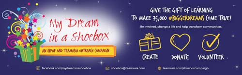 My Dream in a Shoebox, Corporate Social Responsibility campaign
