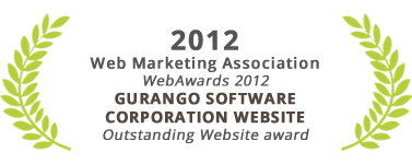 Outstanding Website Award, Gurango Software Corporation website, Web Marketing Association