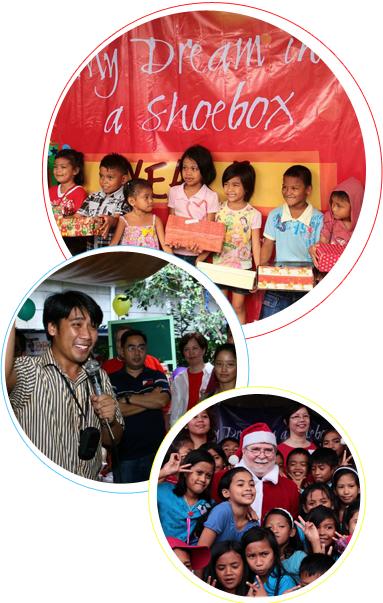 My Dream in a Shoebox, Corporate Social Responsibility campaign, outreach activity, Efren Penaflorida, shoebox donations