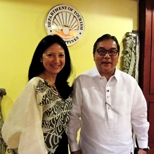Monette Iturralde-Hamlin with Tourism Secretary Ramon Jimenez