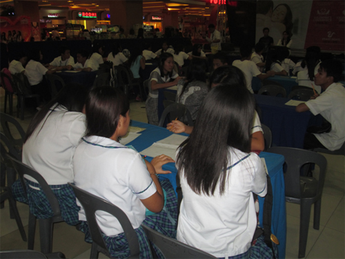 Screening for the SM College Scholarship Program at SM Tarlac.